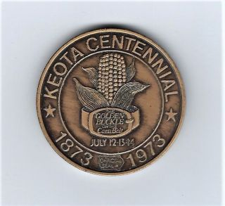 1973 Keota Iowa Centennial Token - Sneak A Peek - Coin photo
