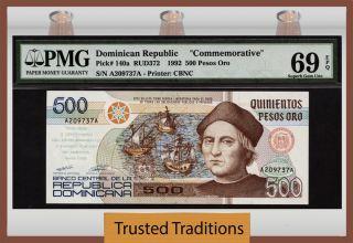 Tt 140a 1992 500 Pesos Oro Dominican Republic