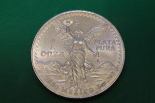 1990 Mexico 1 Oz Silver Libertad Bu / Au Onza In Air - Tite Capsule (peso) photo