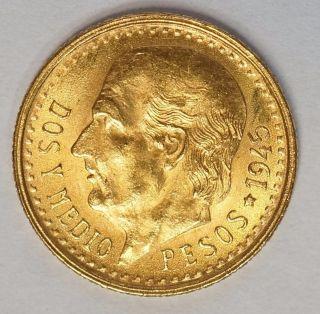 Mexico Gold 2 1/2 Pesos Gem Bu 1945 (g - 1945) Stock Photo 4 photo