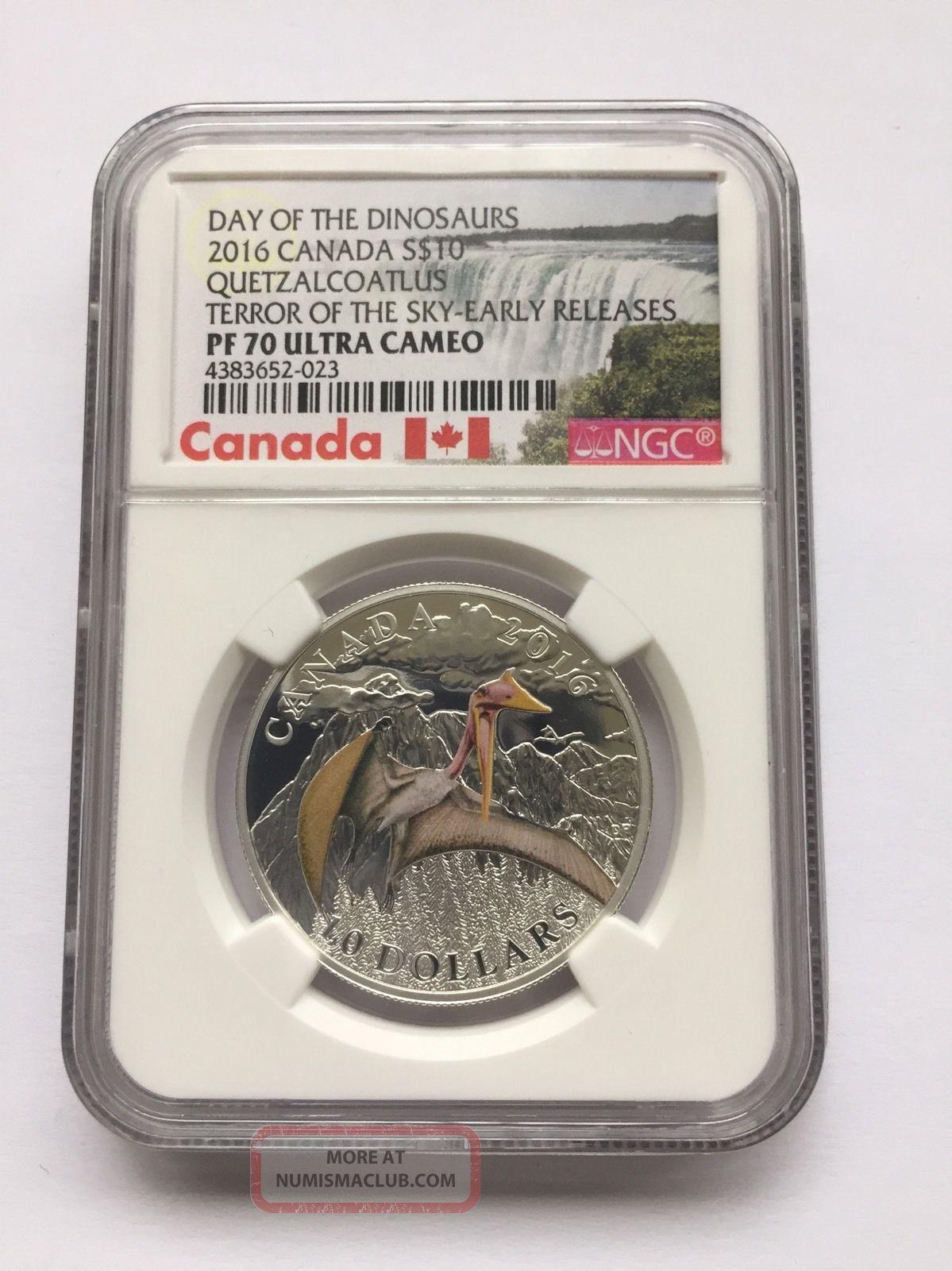 2016 - Canada $10 Quetzalcoatlus - Terror Of The Sky - Pr70 Er Coins: Canada photo