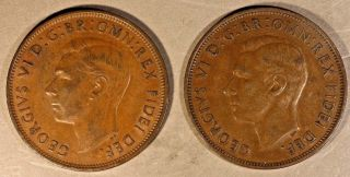 1950 & 1951 Great Britain Penny Circulated Key Dates U.  S. photo