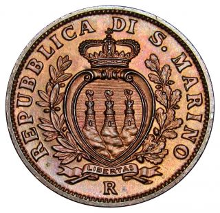 San Marino 10 Centesimi Coin 1938 Km 13 Au Ve01 (a3) photo