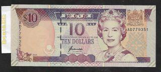 [bl] Fiji,  10 Dollars,  Nd (1996),  P 98b,  Unc photo