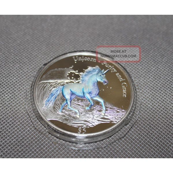 Fiji 2016 5 Unicorn Purity And Grace 3oz Proof Like
