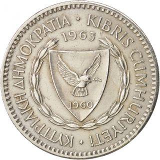 [ 450007] Cyprus,  100 Mils,  1963,  Copper - Nickel,  Km:42 photo