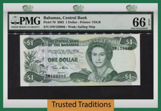 Tt Pk 70 2002 Bahamas 1 Dollar