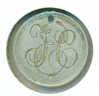 Love Token Engraved Tce Tec Lce Lec From A Silver Coin Germany Hungary Austria? photo