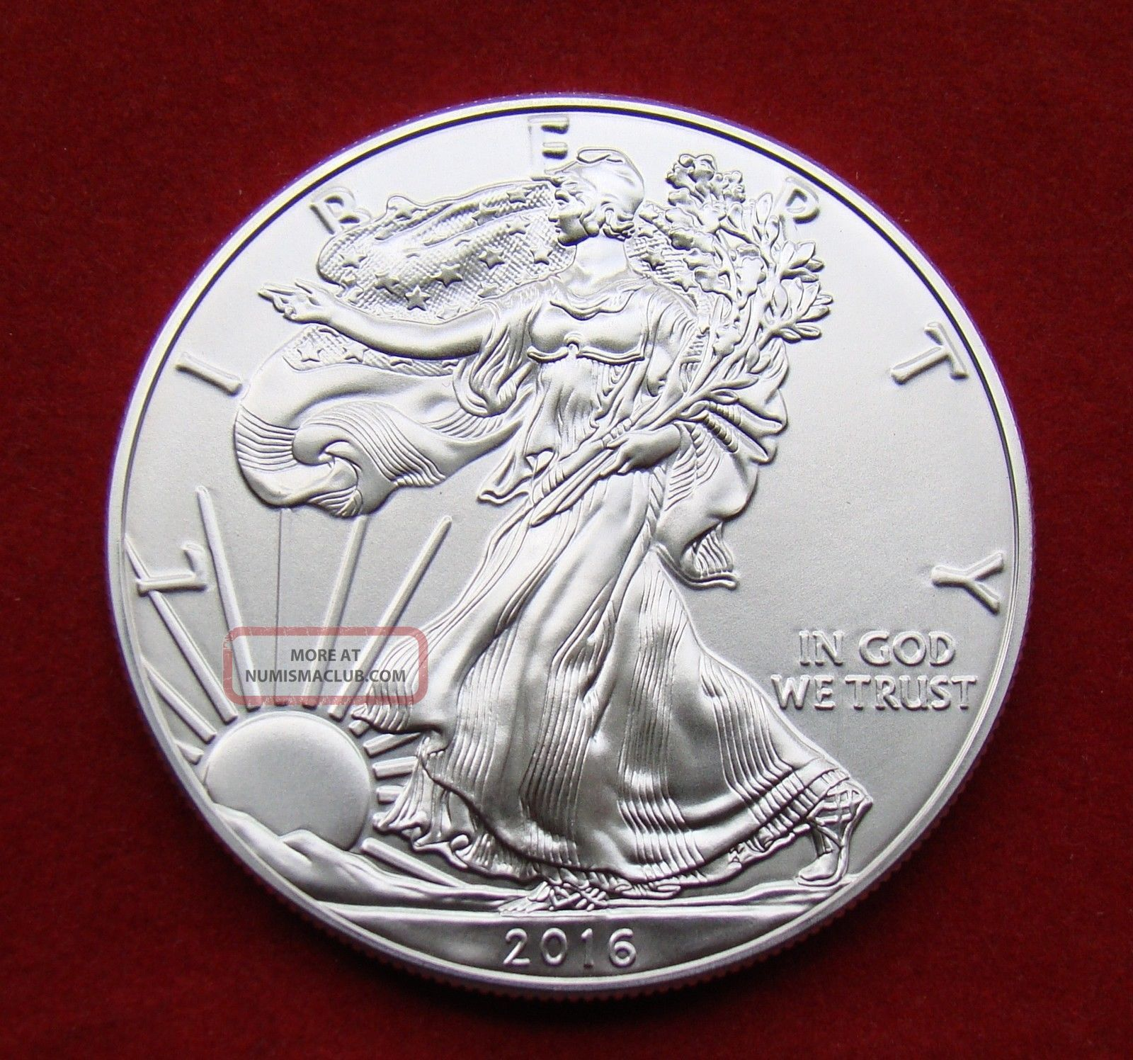 2016 Silver Dollar Coin 1 Troy Oz American Eagle Walking