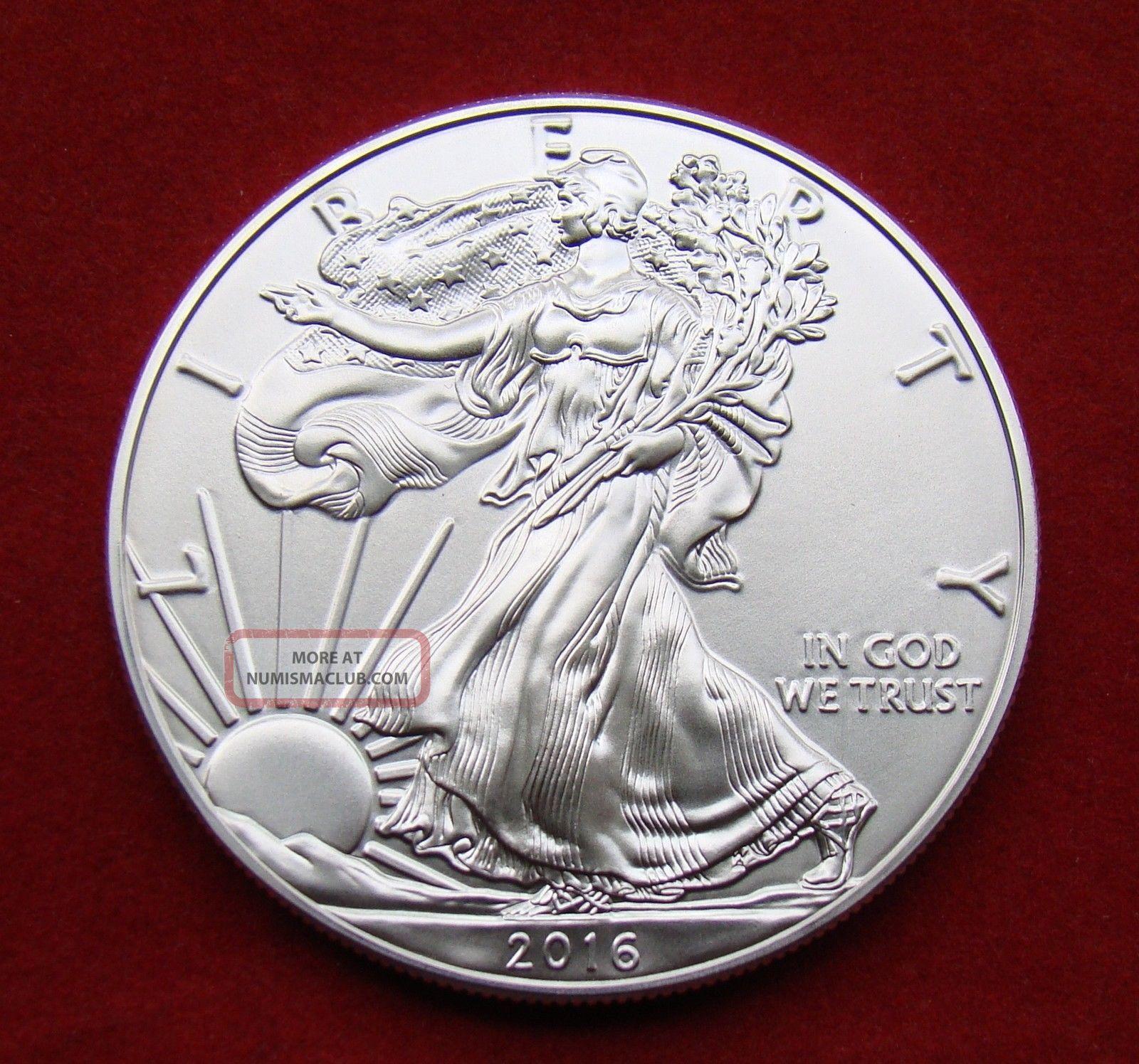 2016 Silver Dollar Coin 1 Troy Oz American Eagle Walking