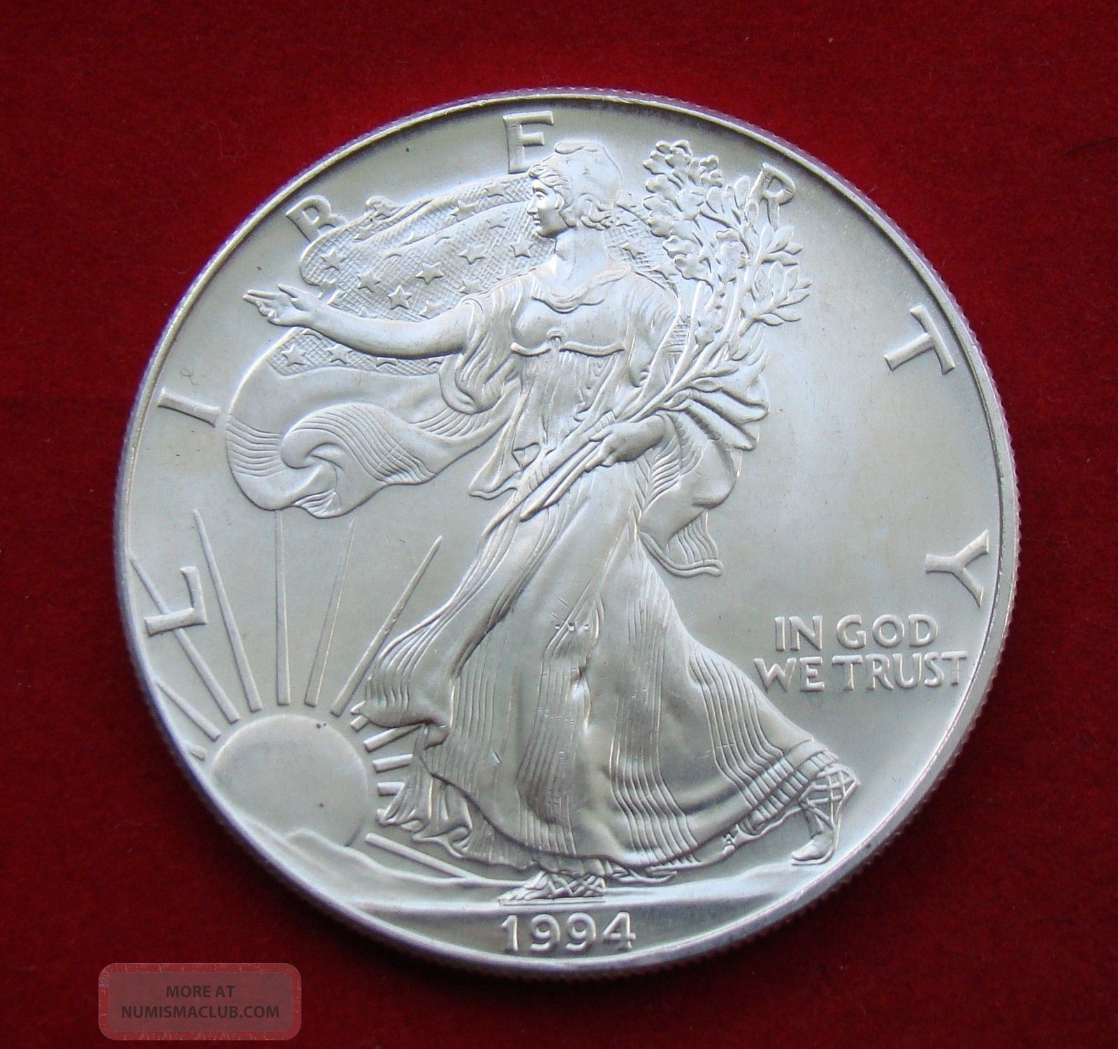 1994 Silver Dollar Coin 1 Troy Oz American Eagle Walking