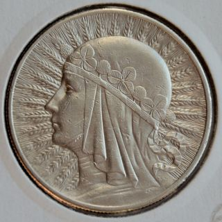 Poland 10 Zlotych,  1932,  Queen Jadwiga,  London photo