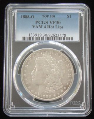 1888 - O Pcgs Vf30 Doubled Die Obverse Morgan Dollar - Hot Lips - Vam 4 - Top 100 photo