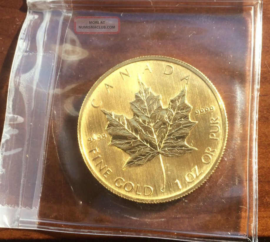2006 9999 Fine Gold Canadian Maple Leaf Coin 50 Dollars Uncirculated 1 Oz Pur