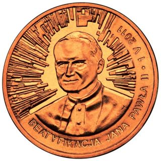 Poland 2 Zlote 2011 Pope John Paul Ii Beautification Commemorative Coin Unc photo