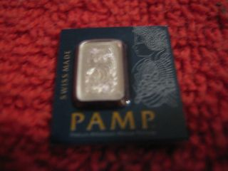 1 Gram Pamp Suisse Platinum Bar.  9995 Fine Multigram Fortuna (in Assay) photo