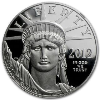 2012 - W 1 Oz Proof Platinum American Eagle Coin - Pf - 70 Er Ngc - Sku 72382 photo