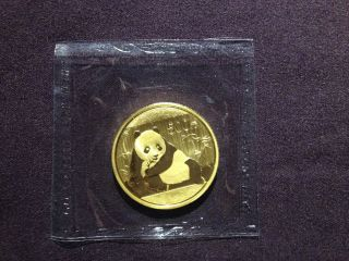 2015 China 1 Oz Gold Panda Bu (in Plastic) photo