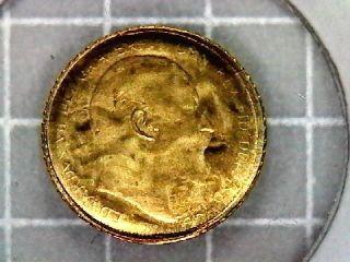 King Edward Vii Solid 8 Karat Gold 10mm Miniature Sovereign Design photo