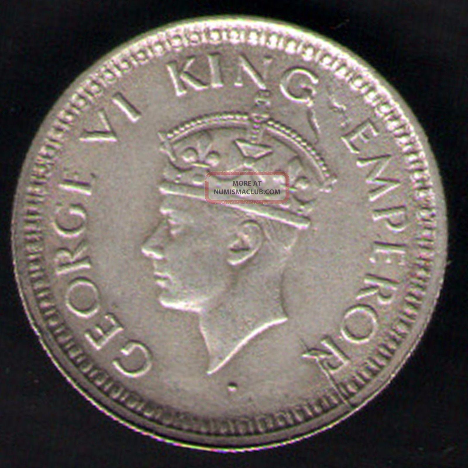 British India - 1944 - George Vi 1/4 Rupee Silver Coin Ex - Rare Coin British photo