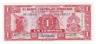 Honduras: Banknote - 1 Lempira 1965 Unc photo