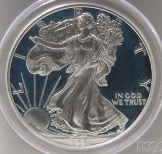 1997 - P American Silver Eagle Proof (pcgs - Pr69 Dcam) photo