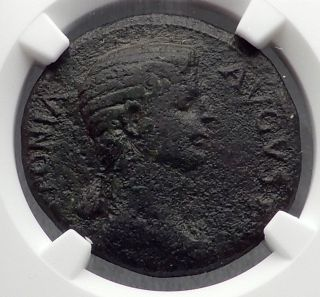 Antonia Mark Antony Daughter Claudius Mother 41ad Ancient Roman Coin Ngc I60226 photo