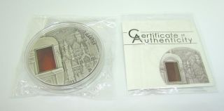 Palau 2011 - $10 - Mineral Art - Neuschwanstein Castle - 2oz Limited Silver Coin photo