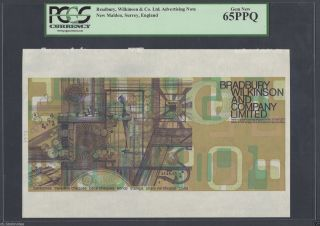 "Bradbury,  Wilkinson & Co.  Ltd (1972) ""2"" & ""0"" Bw - 171b Brown Uncirculated photo"