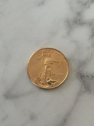 1998 Gold Walking Liberty Half - Dollar 1/4 Oz Fine Gold - Ungraded photo