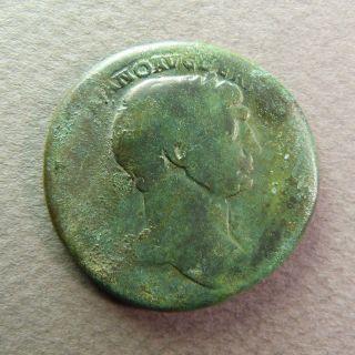Roman Imperial Ae Sestertius Coin Of Trajan Us25 photo
