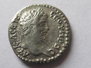 Silver - Drachm Of Septimius Severus From Caesarea In Cappadocia Rv.  Mount Argaios photo