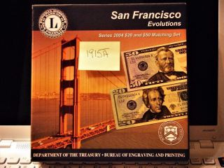 2004 $20 & $50 Evolution ' S San Francisco (l) : El00001915a W And Box 2301 photo