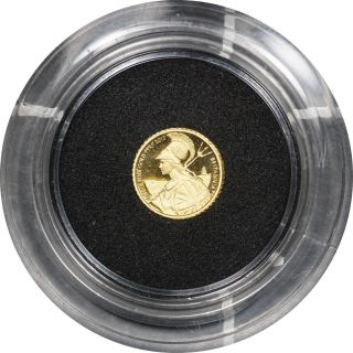 2015 Great Britain Britannia 0.  999 Fine Gold 50 Pence - 1/40 Oz photo