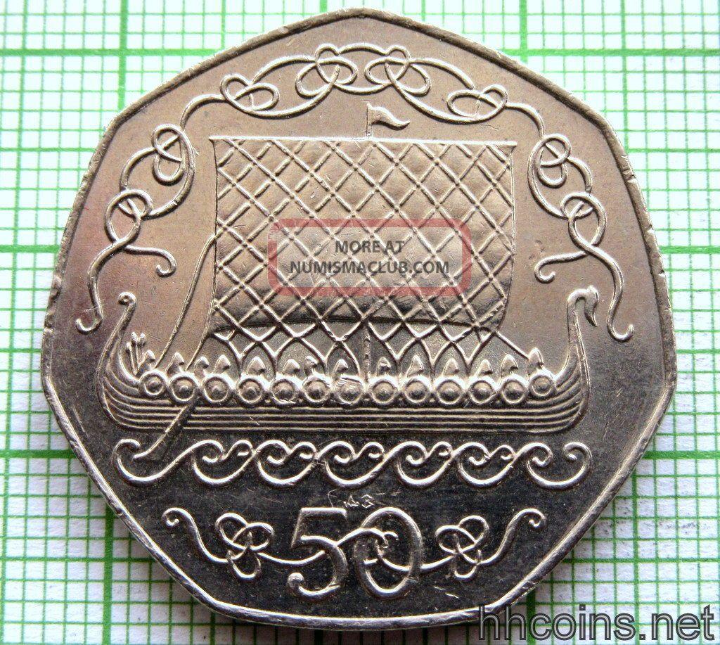 Isle Of Man Manx 1983 Ab 50 Pence Viking Longship,  Unc Coins: World photo