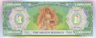 Usa / Angel Reserve Note 1 Million Blessing Uncirculated Banknote photo