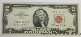 Crisp Unc 1963a Red Seal $2 Two Dollar Currency Note United States photo