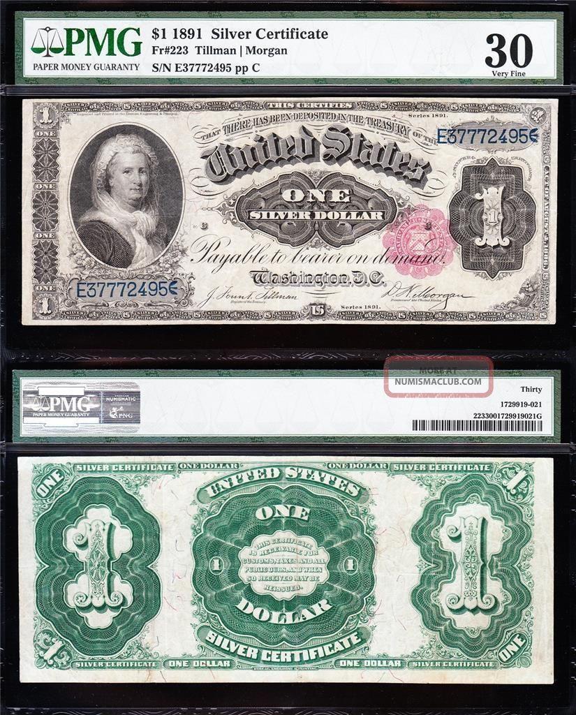 Awesome Scarce Bold & Crisp Vf,  1891 $1