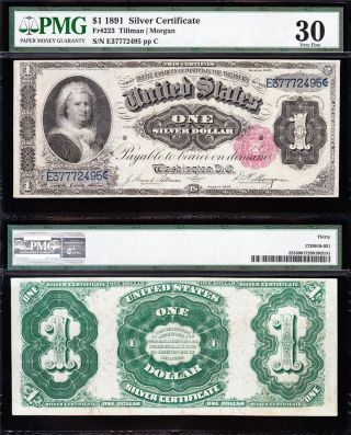 Awesome Scarce Bold & Crisp Vf,  1891 $1