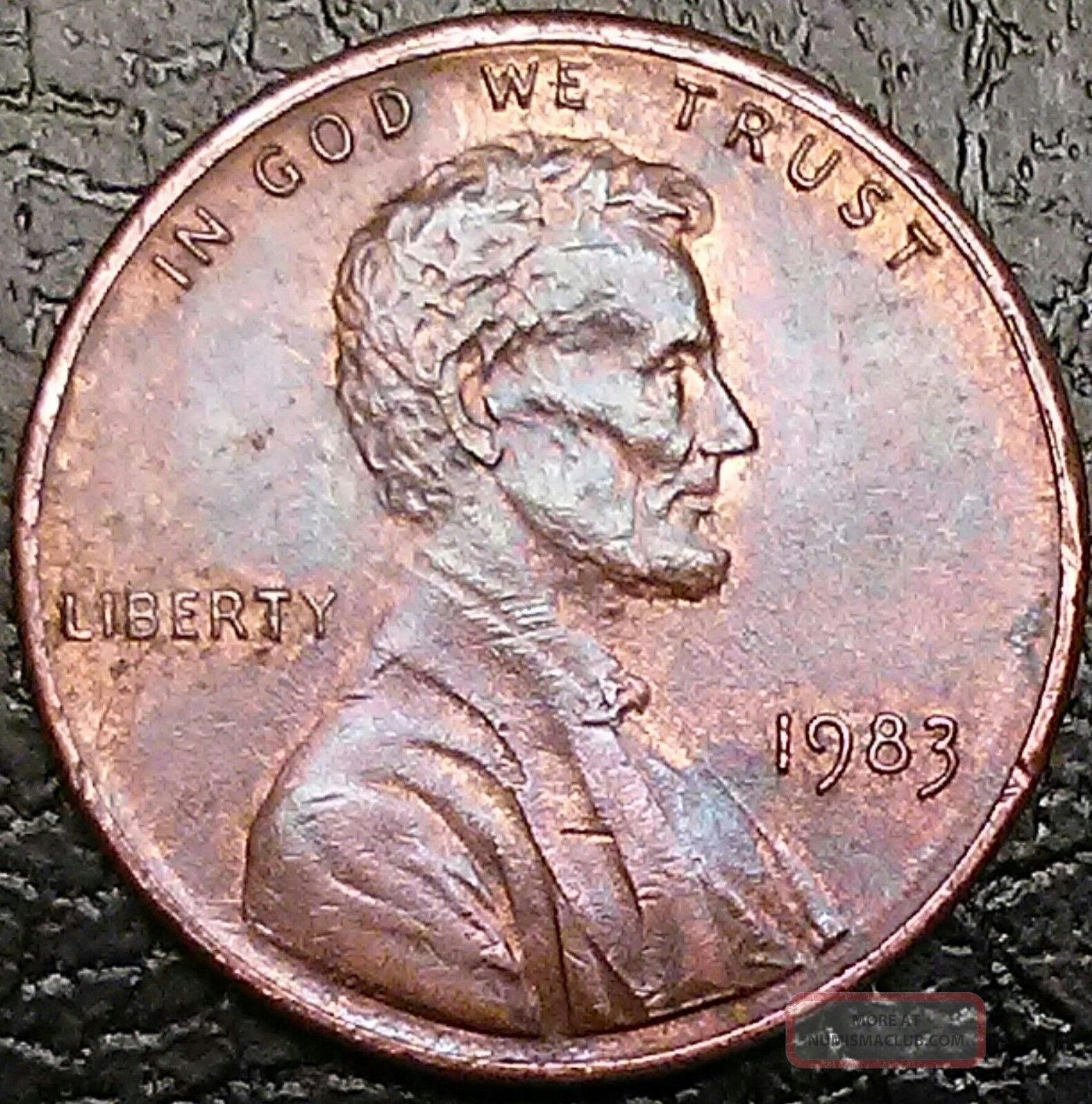 1983 1c Doubled Die Reverse Rd Lincoln Cent Lincoln Memorial (1959-2008) photo