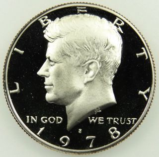 1978 S Clad Deep Cameo Proof Kennedy Half Dollar (b05) photo