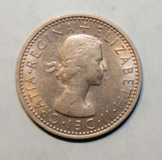 Great Britain 6 Pence 1967 Uncirculated Coin - Queen Elizabeth Ii photo