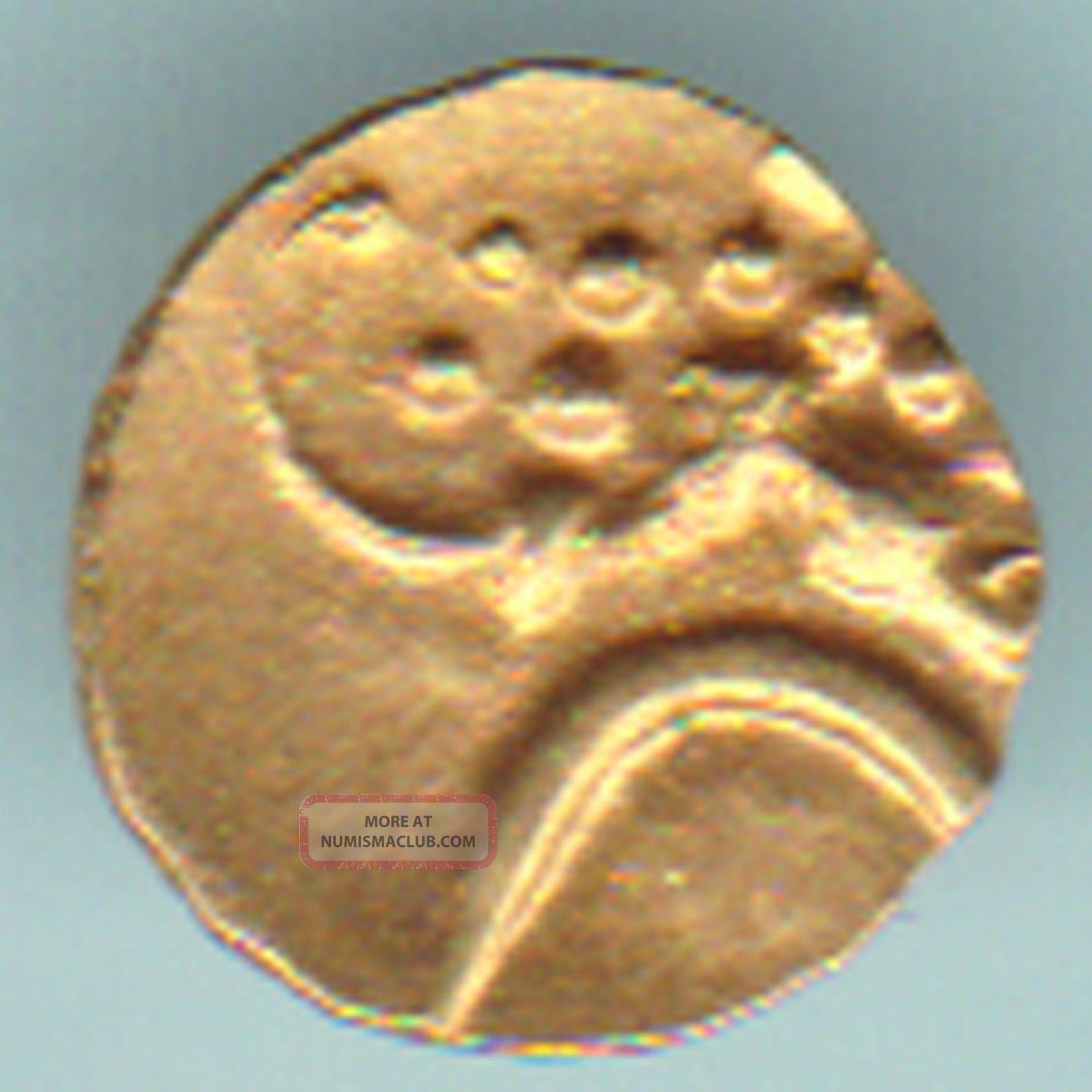 Dutch - Narsimha Pulicat - Gold Fanam - Rarest Variety Small Gold Coin India photo