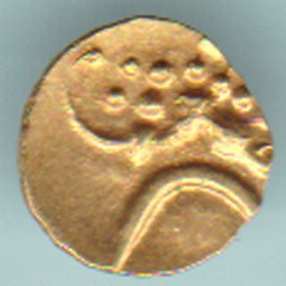 Dutch - Narsimha Pulicat - Gold Fanam - Rarest Variety Small Gold Coin photo