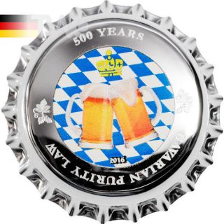 Palau 2016 1$ 500 Years Bavarian Purity Law 2.  5g Proof - Like Silver Coin photo