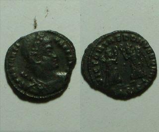 Constantius Ii Victory Wreath Siscia Mint/rare Ancient Roman Coin/347 Ad photo