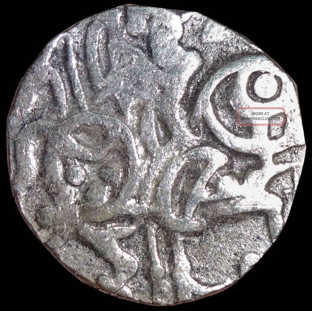 Ancient - Hindu Shahi - Samanta Deva - Horse & Sacred Cow (850 - 1000) Silver Gm35 India photo