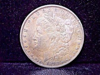 1878 Morgan Silver Dollar 7 Tail Feathers 90 Silver Us Coin $1 Currency photo