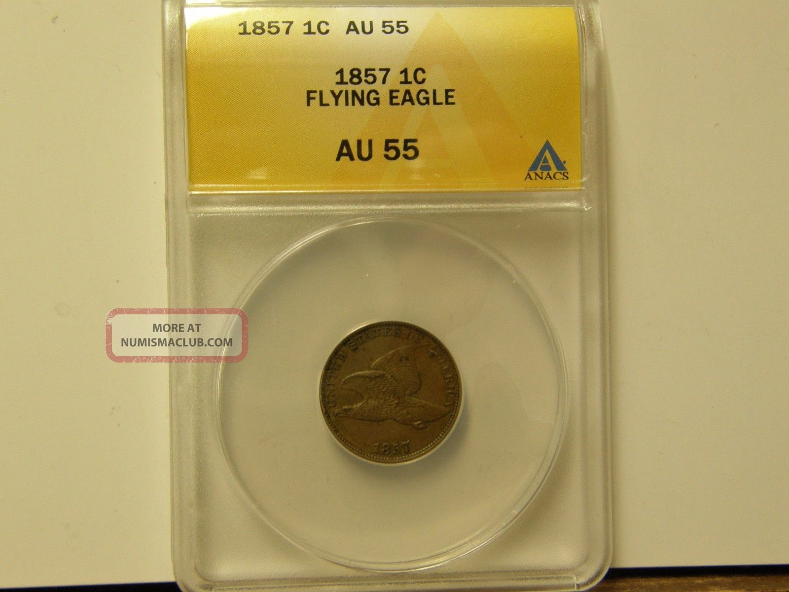 Anacs Au55 1857 Flying Eagle Cent - A Coin Small Cents photo