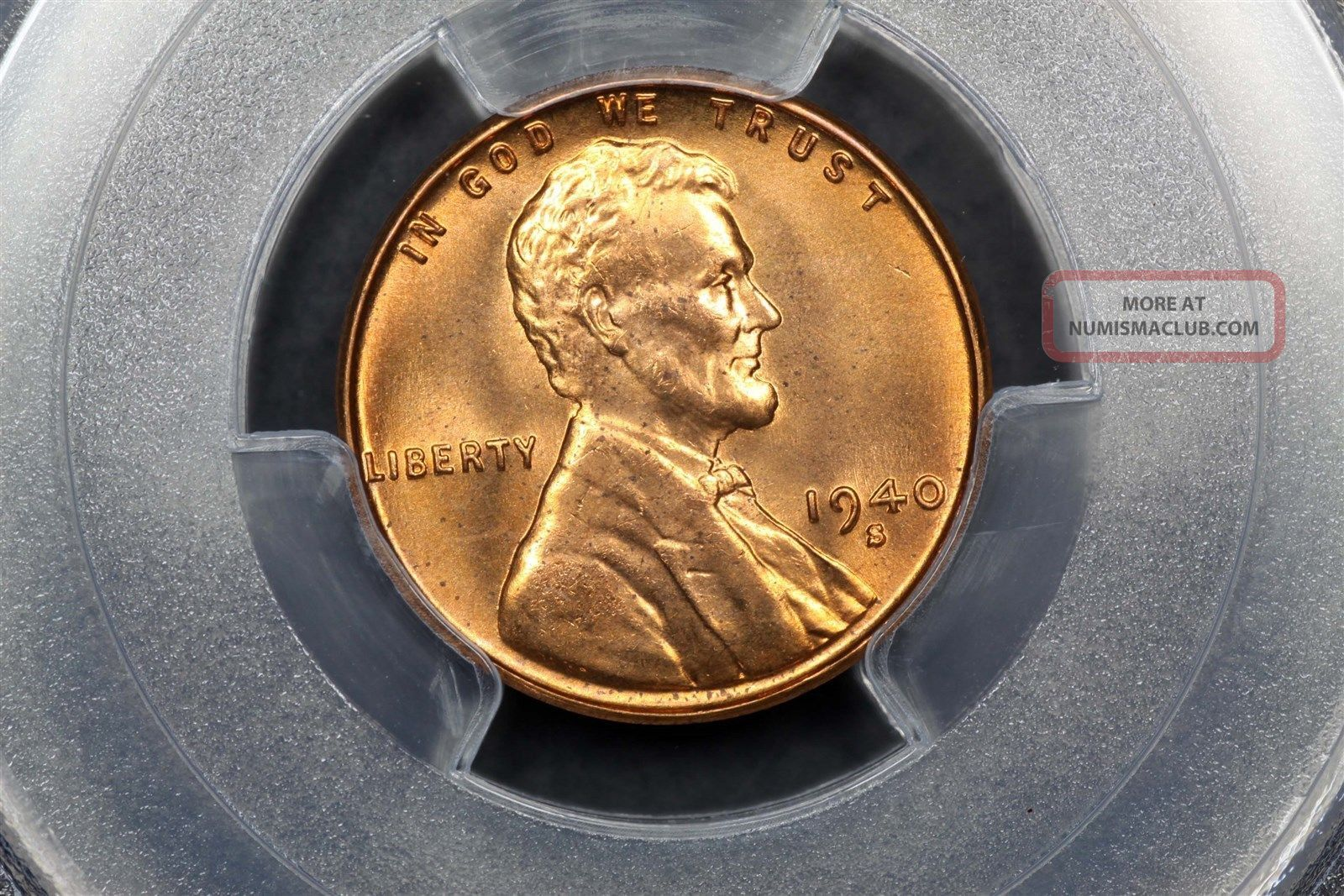 1940 - S Lincoln Wheat Cent Copper 1c Ms66 Rd Red Pcgs 81845643 Small Cents photo